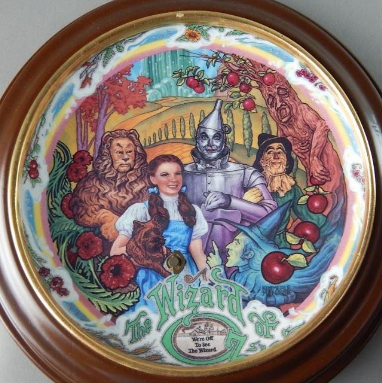 Eight Framed Wizard of Oz Music Box Plates - 7