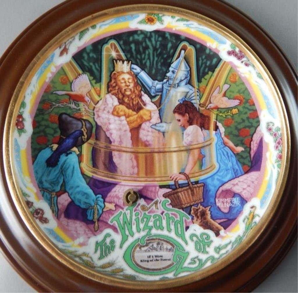 Eight Framed Wizard of Oz Music Box Plates - 8