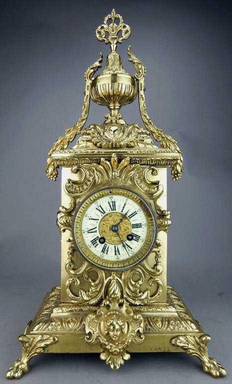 French Classic Style Gilt Metal Clock