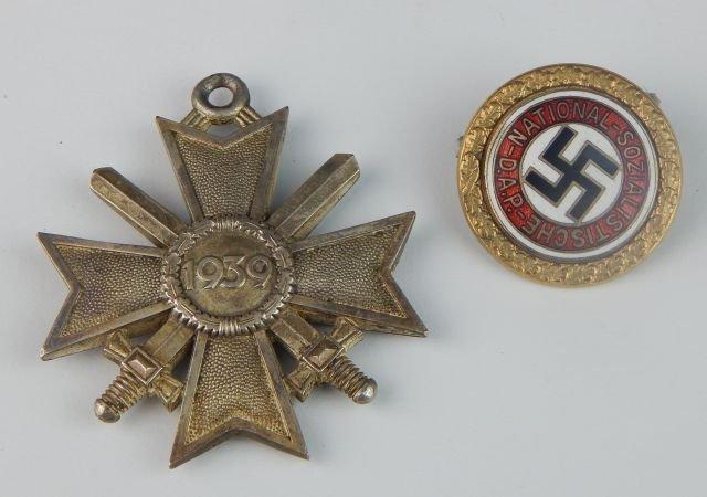German Golden Party NSDAP & Knight Cross of War
