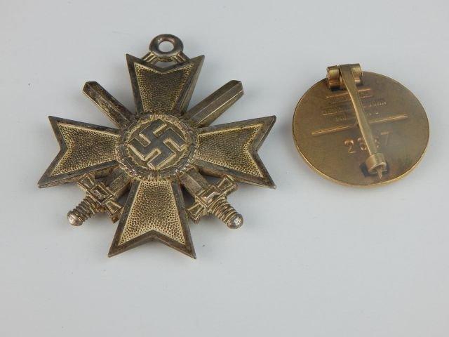 German Golden Party NSDAP & Knight Cross of War - 2