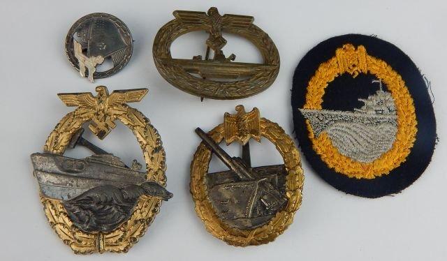 Six German Navy Badges