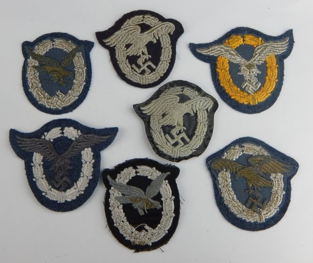 Seven German Luftwaffe Operational Badges