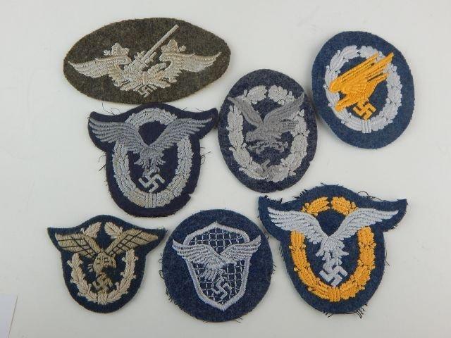 Seven German Luftwaffe Badges