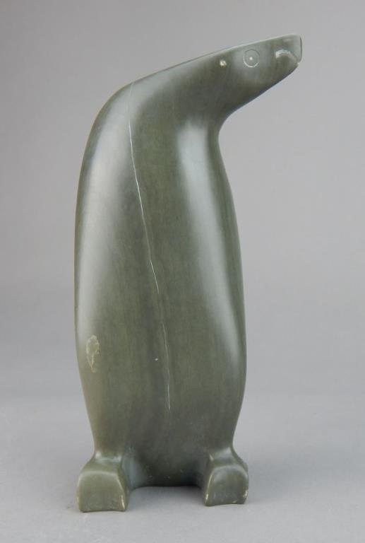 Inuit Eskimo Carved Soapstone Penguin