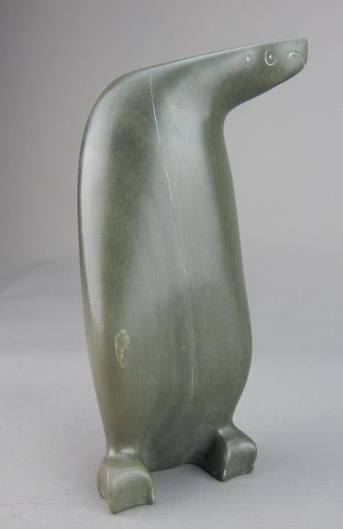 Inuit Eskimo Carved Soapstone Penguin - 2
