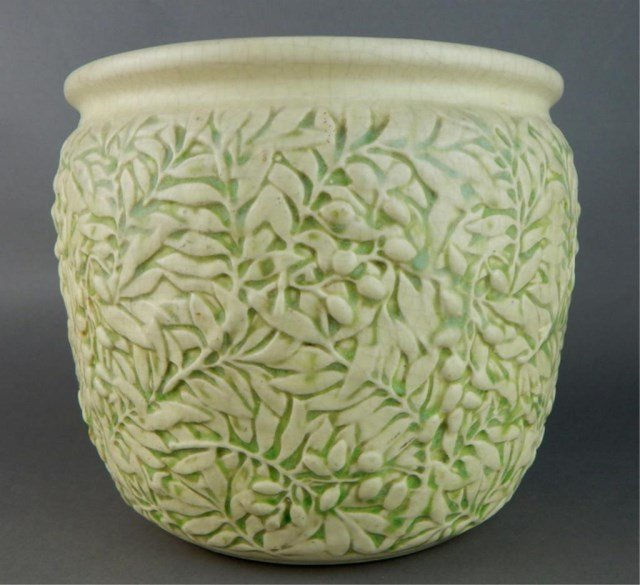 Weller Art Pottery Marvo Green Jardiniere