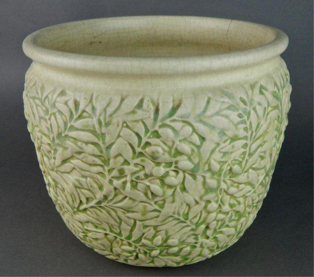 Weller Art Pottery Marvo Green Jardiniere - 2