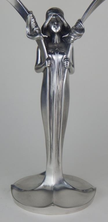 Pair of W.M.F. Art Deco Figural Candelabra - 2