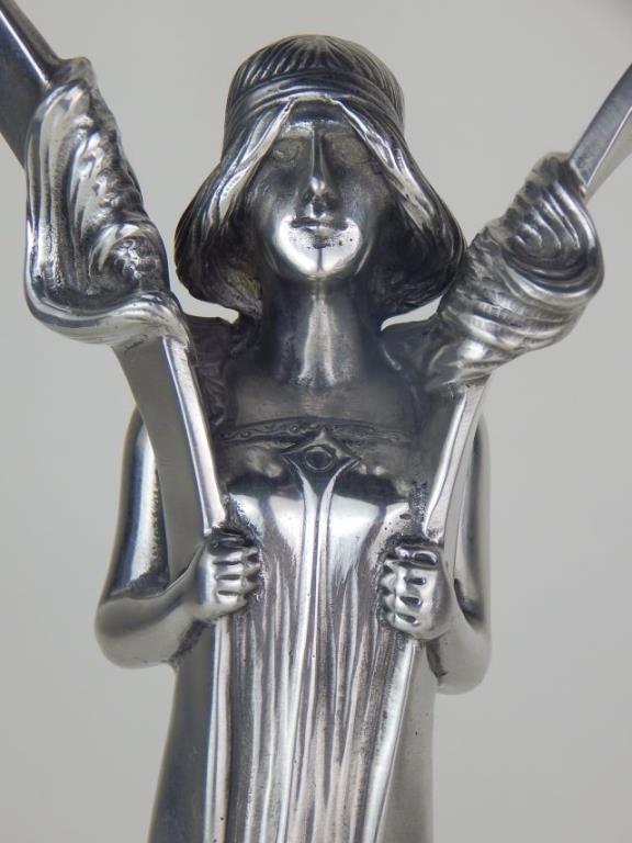 Pair of W.M.F. Art Deco Figural Candelabra - 3