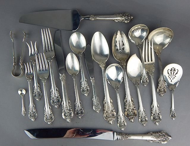 Grande Baroque By Wallace Sterling Silver Flatware Set