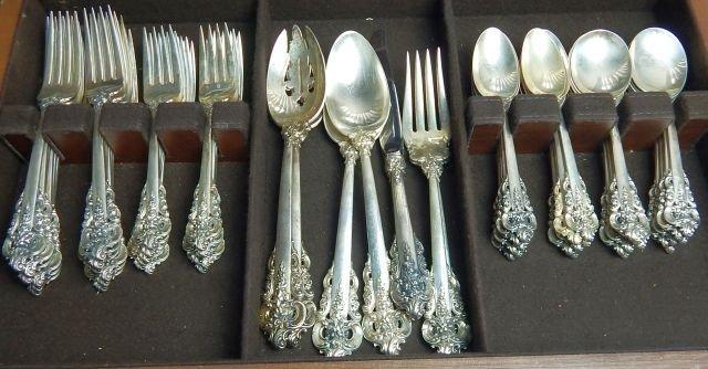 Grande Baroque By Wallace Sterling Silver Flatware Set - 3