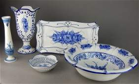 Portugal Blue and White Porcelain Group