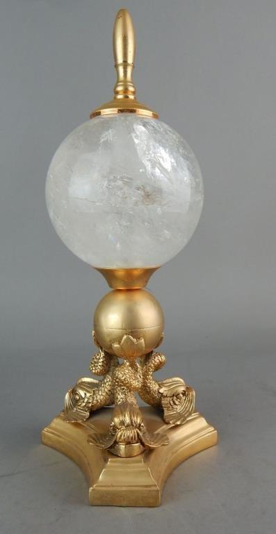 Decorative Rock Crystal on Dolphin Base - 2