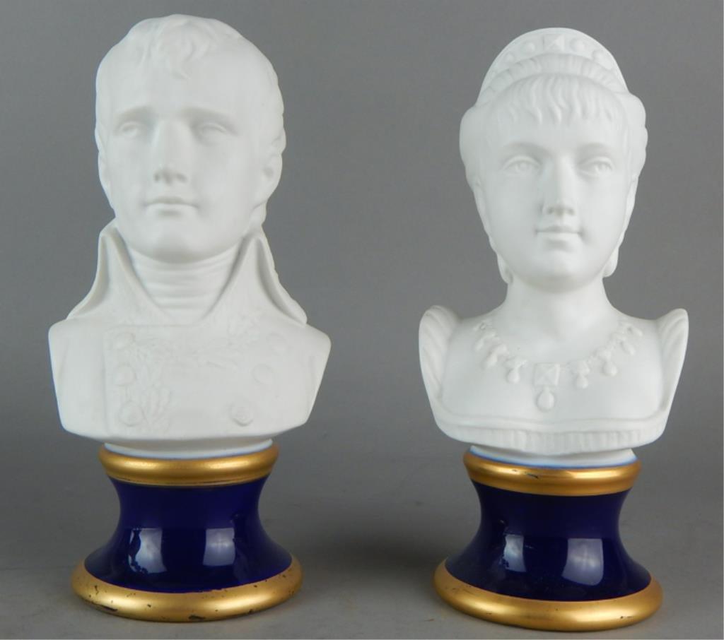 Pair of KPM Porcelain Busts