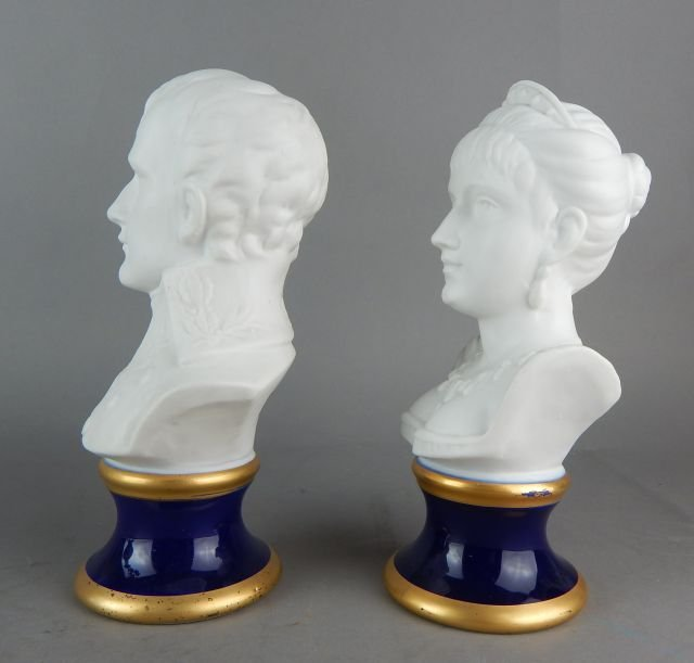 Pair of KPM Porcelain Busts - 2