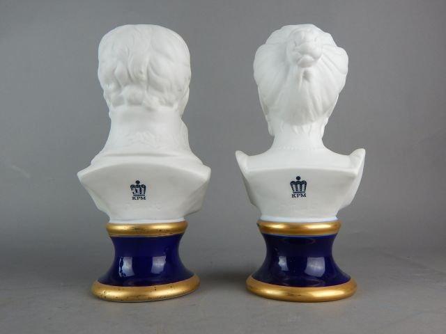 Pair of KPM Porcelain Busts - 3