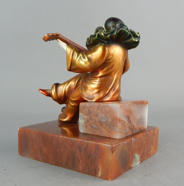 Art Deco Clown Sculpture on Marble Base - 4