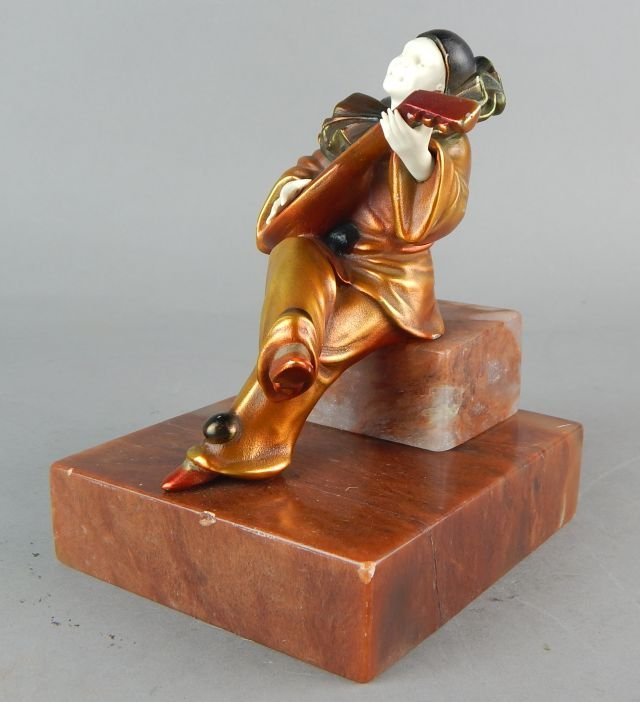 Art Deco Clown Sculpture on Marble Base - 6
