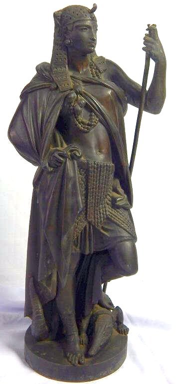 Antique Large Bronze Cleopatra Figure