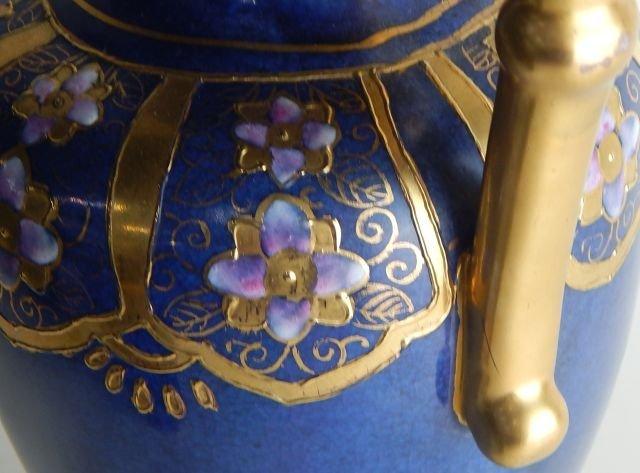 Chinese Enameled & Limoges Cobalt Vases - 3