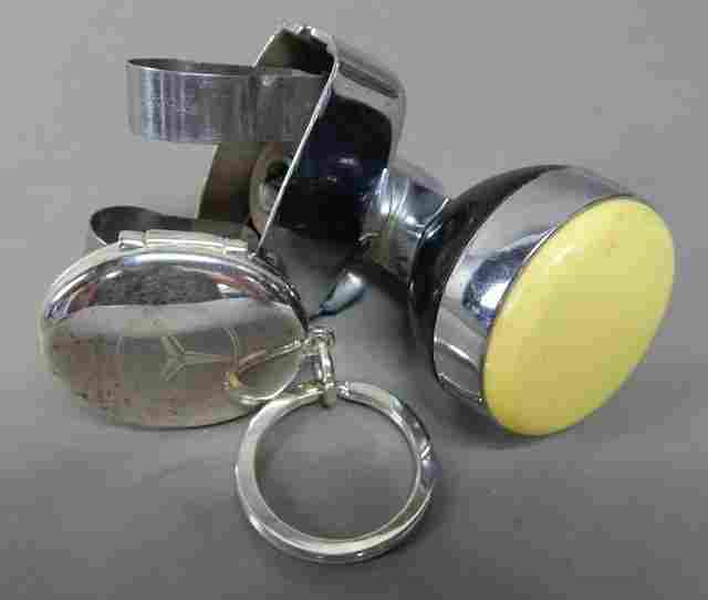 Bakelite Steering Wheel Knob & Mercedes Key Chain