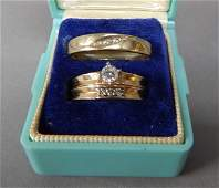 Vintage Mens and Womens Wedding Set