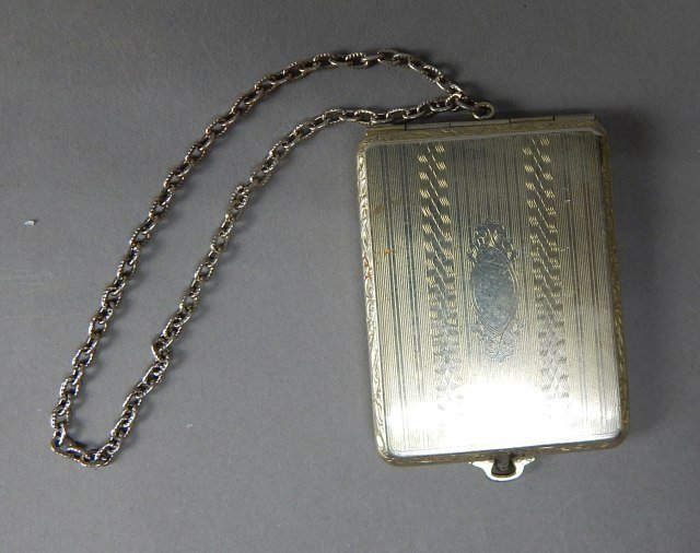 Antique Match Book Holder With Chain