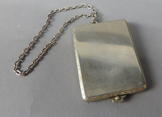 Antique Match Book Holder With Chain - 2