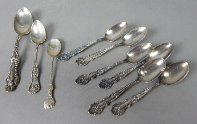 Silver Plate And Sterling Demitasse Spoons
