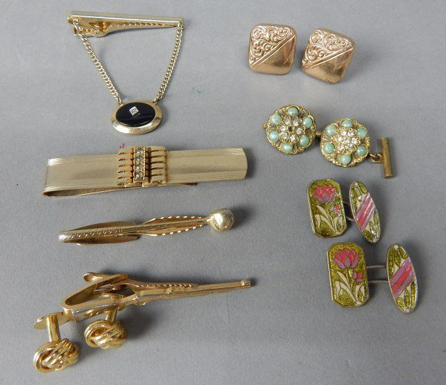 Collection of Tie Bars & Men & Women's Cuff Links