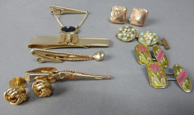Collection of Tie Bars & Men & Women's Cuff Links - 2