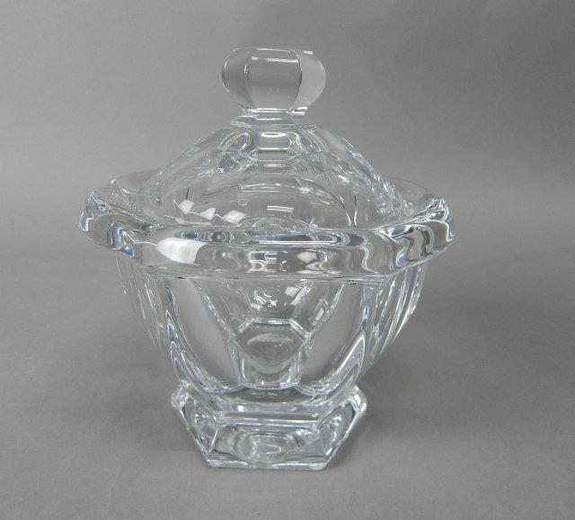 Baccarat Crystal Covered Condiment Dish