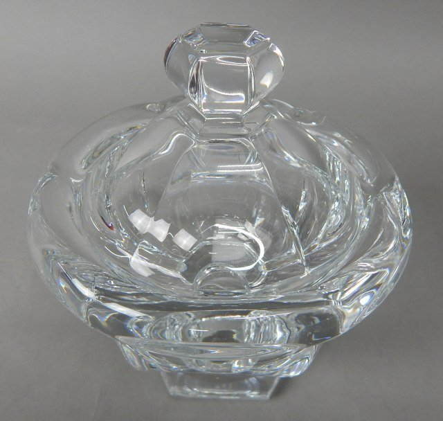 Baccarat Crystal Covered Condiment Dish - 2