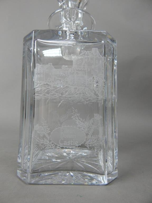 Four Crystal With Sterling Decanters - 6