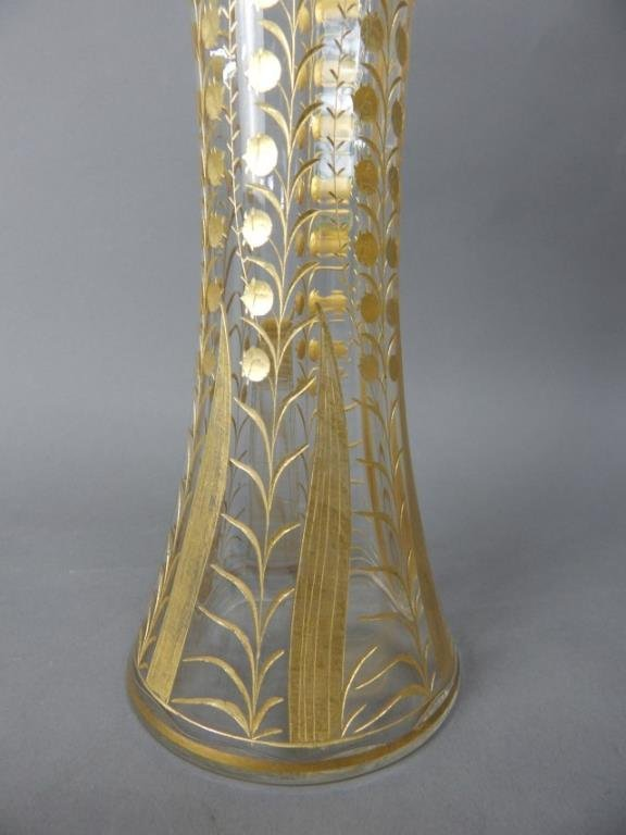 24K Gold Over Crystal Vase - 3