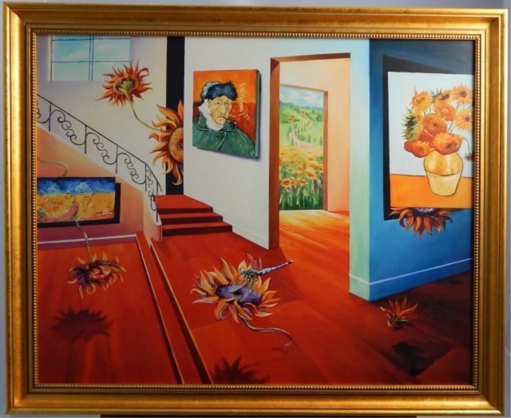 """(377) Leonardo G. Zhang """"Van Gogh & Sunflowers"""""""