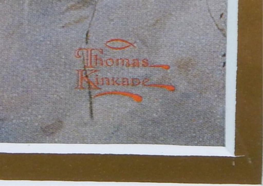 """(451) Thomas Kinkade """"Winter Light"""" - 2"""
