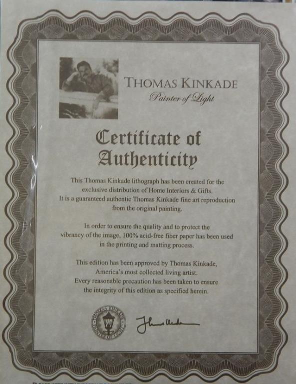 """(451) Thomas Kinkade """"Winter Light"""" - 3"""