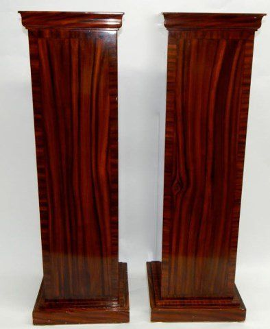 Pair of Laminate over Wood Pedestals