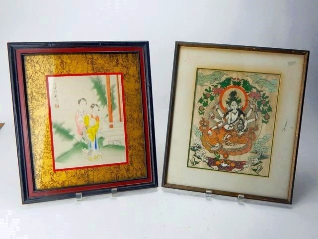 Two Framed Chinese Artworks