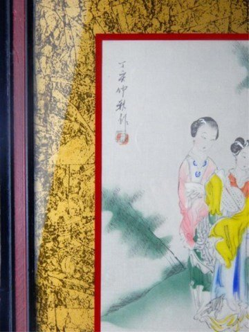 Two Framed Chinese Artworks - 4