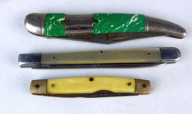 Miniature Gun, Pocket Knives & 44 Cal Shell Casing - 6