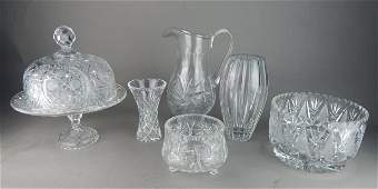 American Brilliant Cut Crystal Grouping