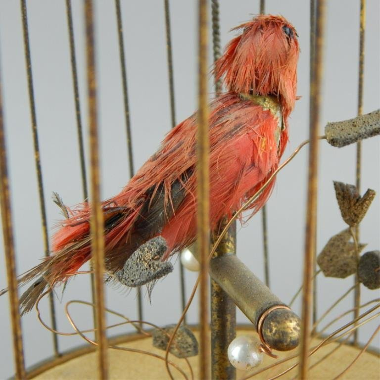 French Automaton Singing Bird in a Cage - 5