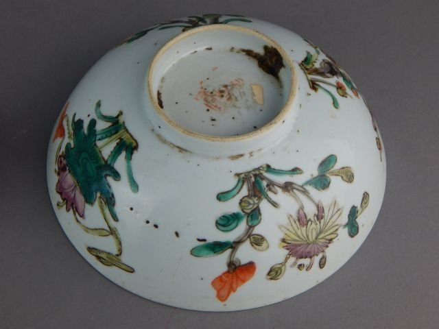 Old Chinese Porcelain Bowl, Plate and Cups - 4