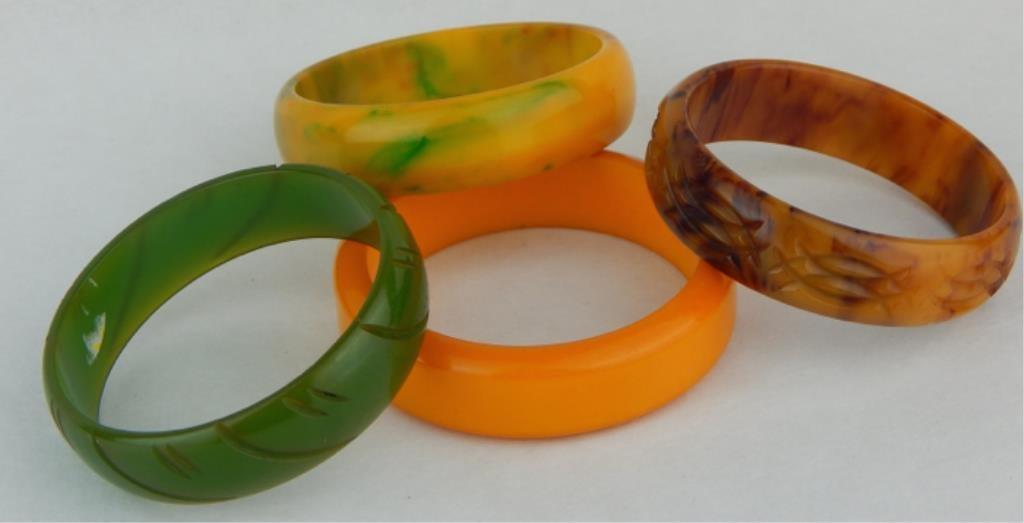 Vintage Bakelite Bangle Bracelets - 2