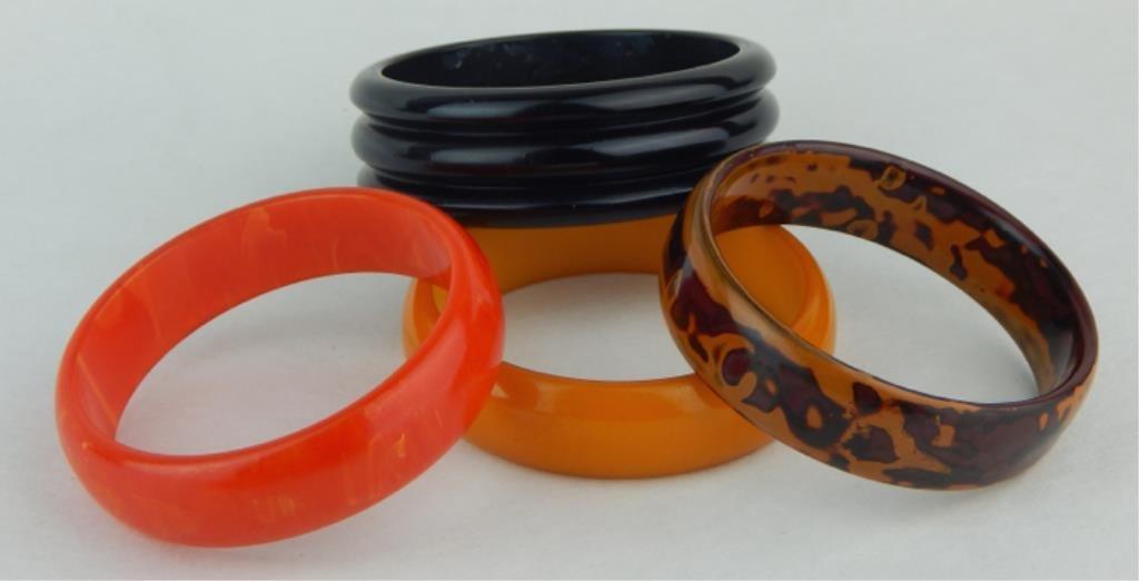 Vintage Bakelite Bangle Bracelets - 3
