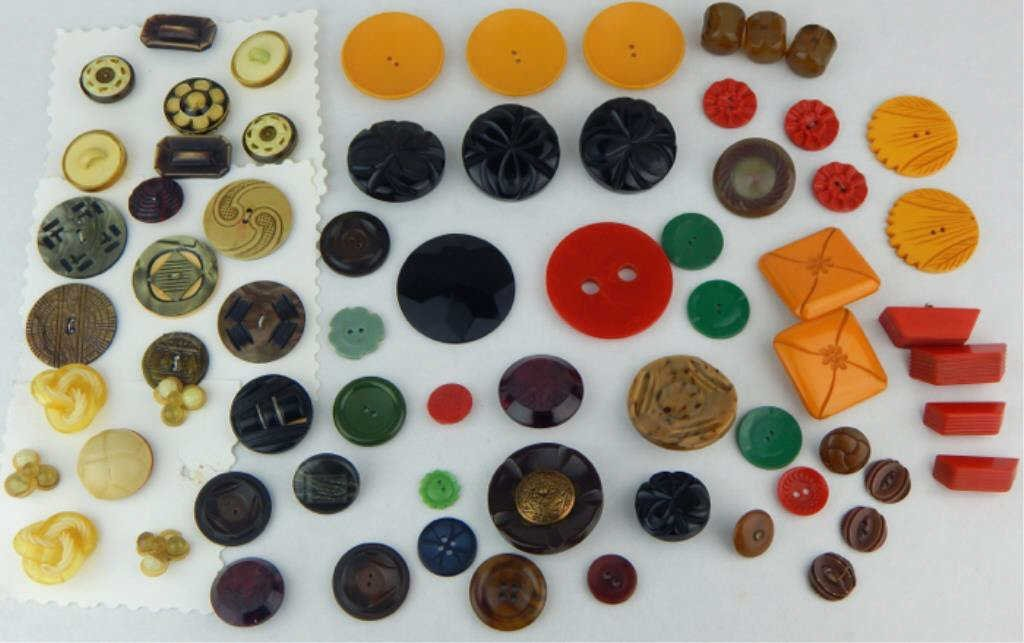 Vintage Bakelite and Celluloid Button Collection