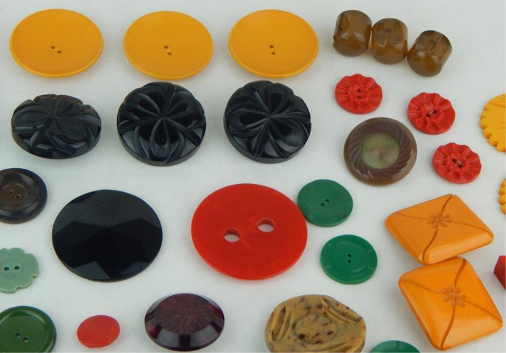 Vintage Bakelite and Celluloid Button Collection - 2